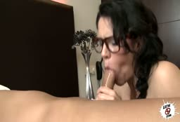 College Girl With Glasses Picked Up On The Street And Fucked