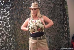 BBW Army Slut Strips Down Her Uniform