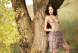 Naked Goddess Swinging Naked In The Woods