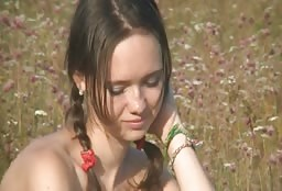 Sexy Teen Gets Naked And Playful Outdoors